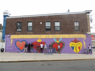 YAP Middlesex (NJ) Healthy Relationships Community Mural