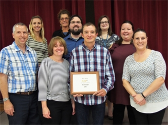 """YAP Supported Employment Participant Honored at """"Work With Us"""" Banquet"""