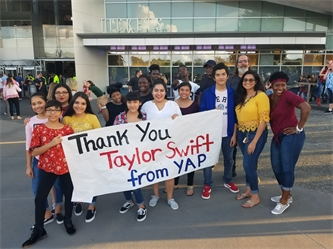 Dallas-area YAP youth and friends say thank you to Taylor Swift