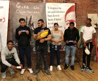 """Philly YAP Youth Attend """"Keep Youth Free!"""" Art Exhibit"""