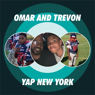 Youth Advocate Programs (YAP), Inc. Advocate Omar Black Leading 12-Year-old Trevon to the Goalpost – on and off the Field