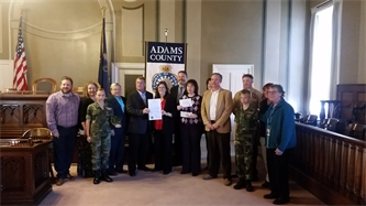 Adams County YAP Joins Collaborating for Youth and County Commissioners to Promote Prescription Drug Take-Back Day